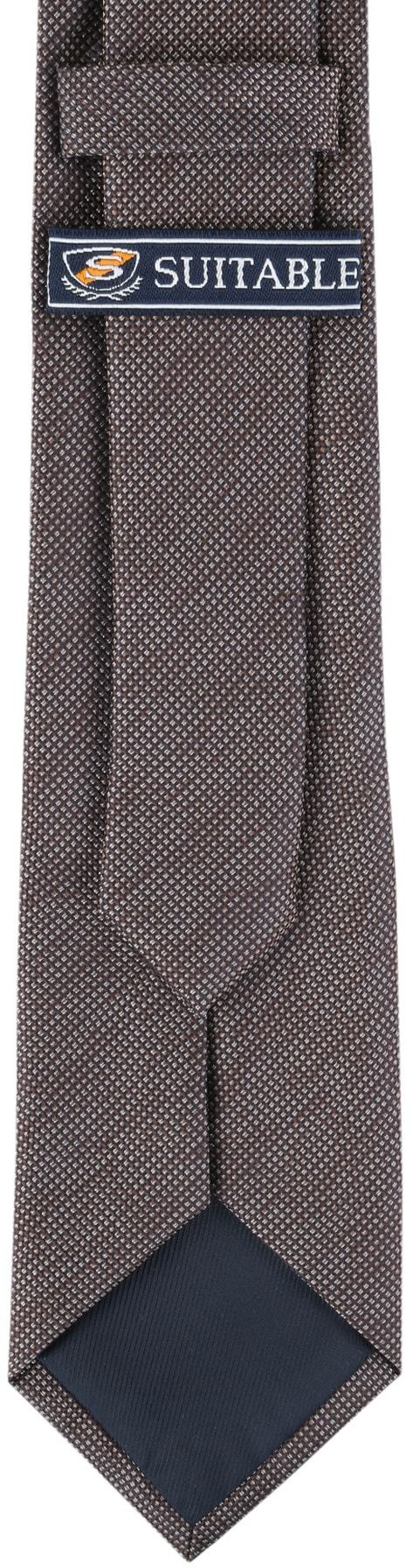 Detail Krawatte Seide Pinpoint Braun 9-17