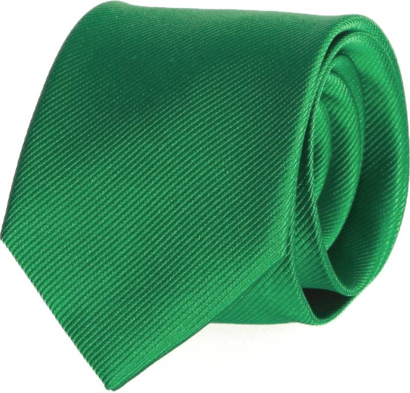 Krawatte Seide Smaragdgrün Uni F68