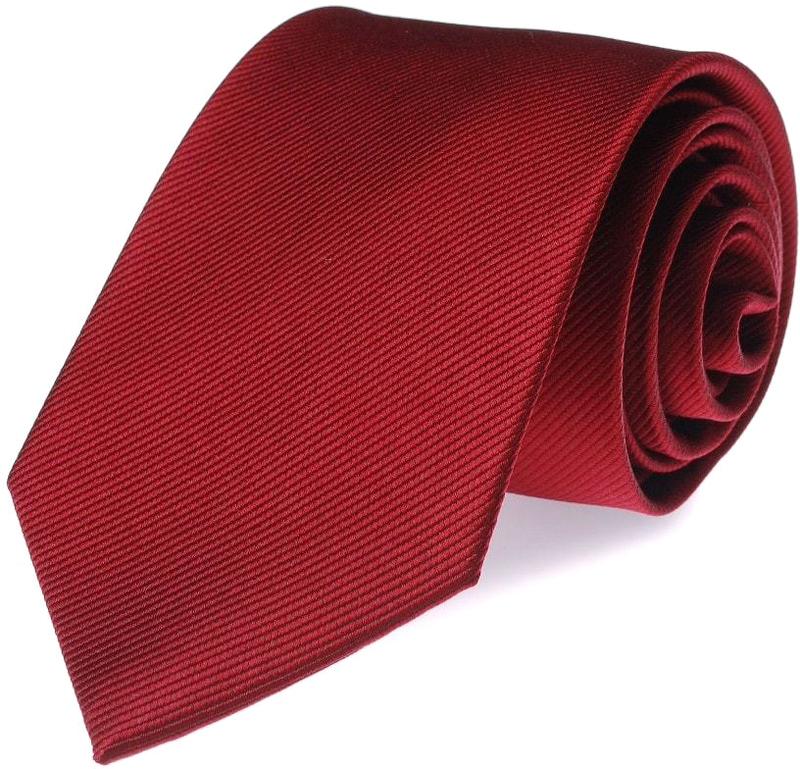 Krawatte Seide Tiefrot F17
