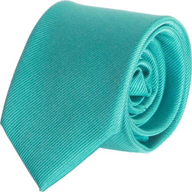 Krawatte Seide Türkis Uni F67 Foto 0