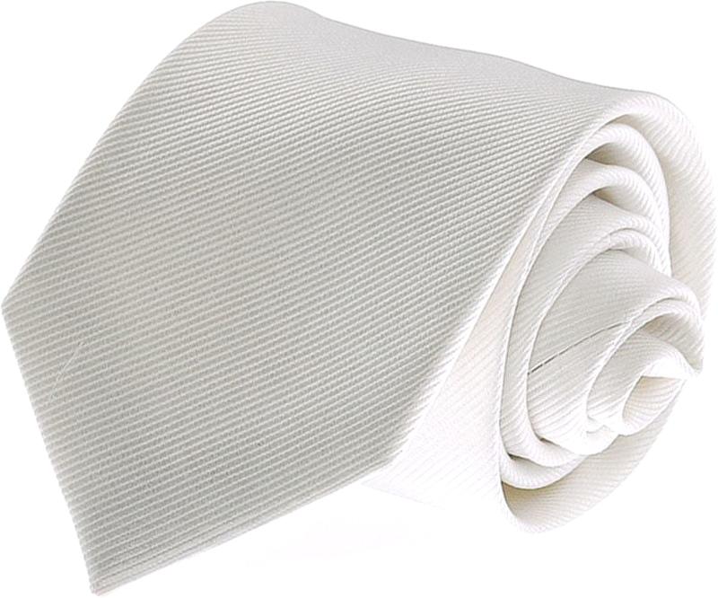 Krawatte Seide Weiß Uni F27 Foto 0