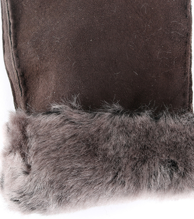 Detail Laimbock Handschoen Drammen Bruin