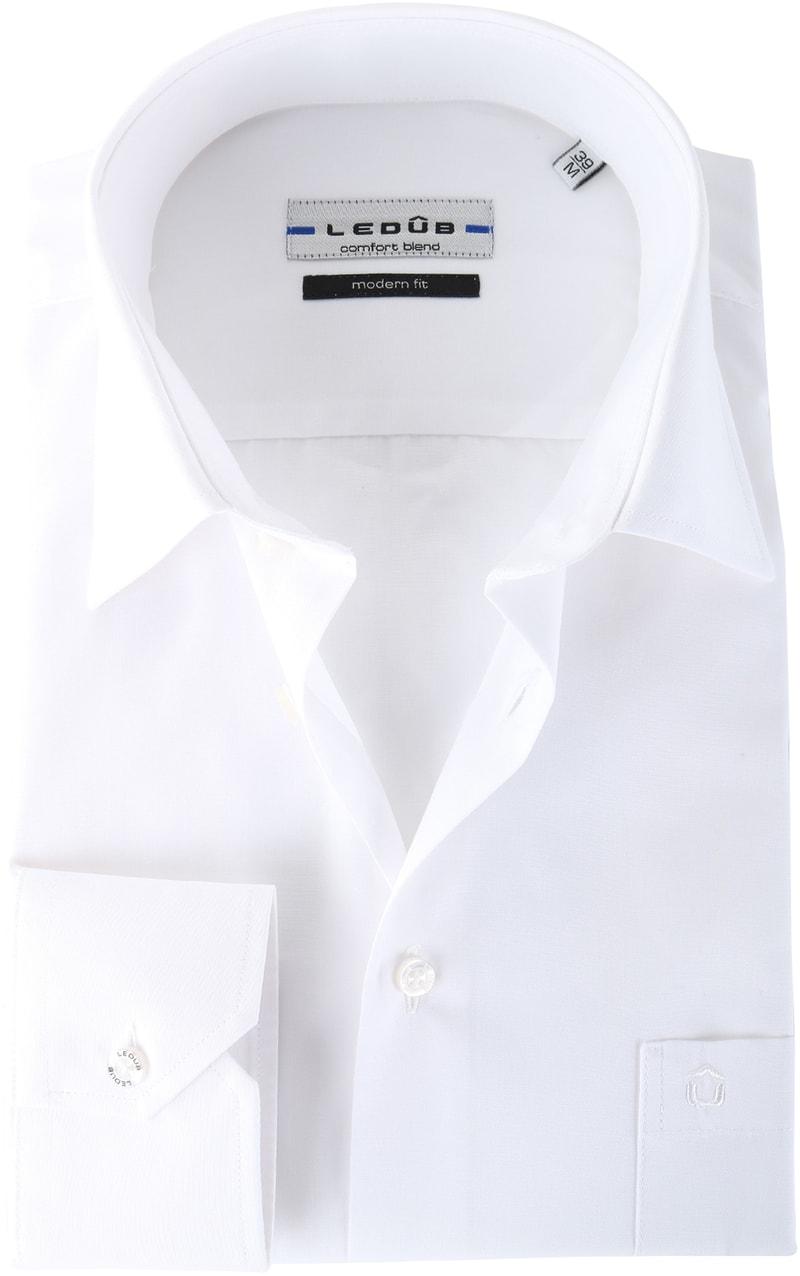 Ledub Hemd Weiß Modern Fit Foto 0