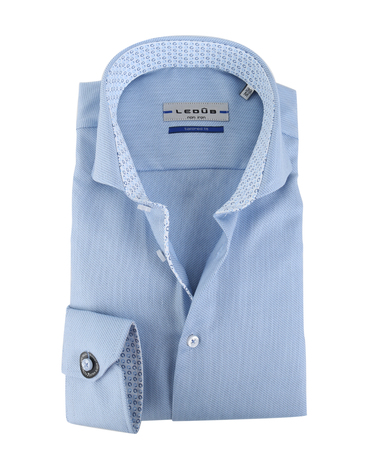 Ledub Overhemd Blauw Dessin SL7  online bestellen | Suitable