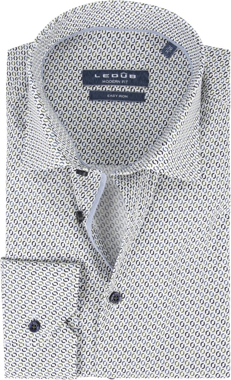 Ledub Overhemd Donkerblauw Patroon foto 0