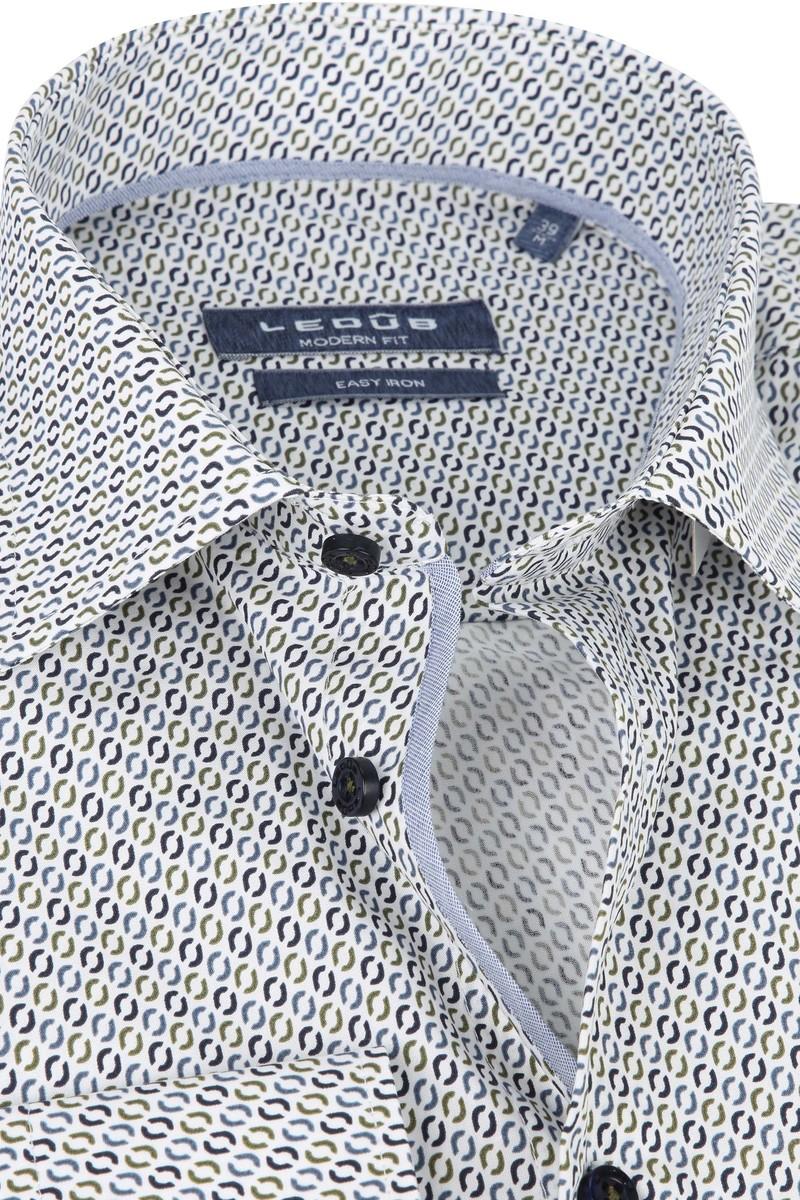 Ledub Overhemd Donkerblauw Patroon foto 1