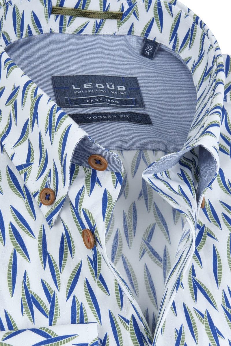 Ledub Overhemd Easy Iron Bladeren foto 1