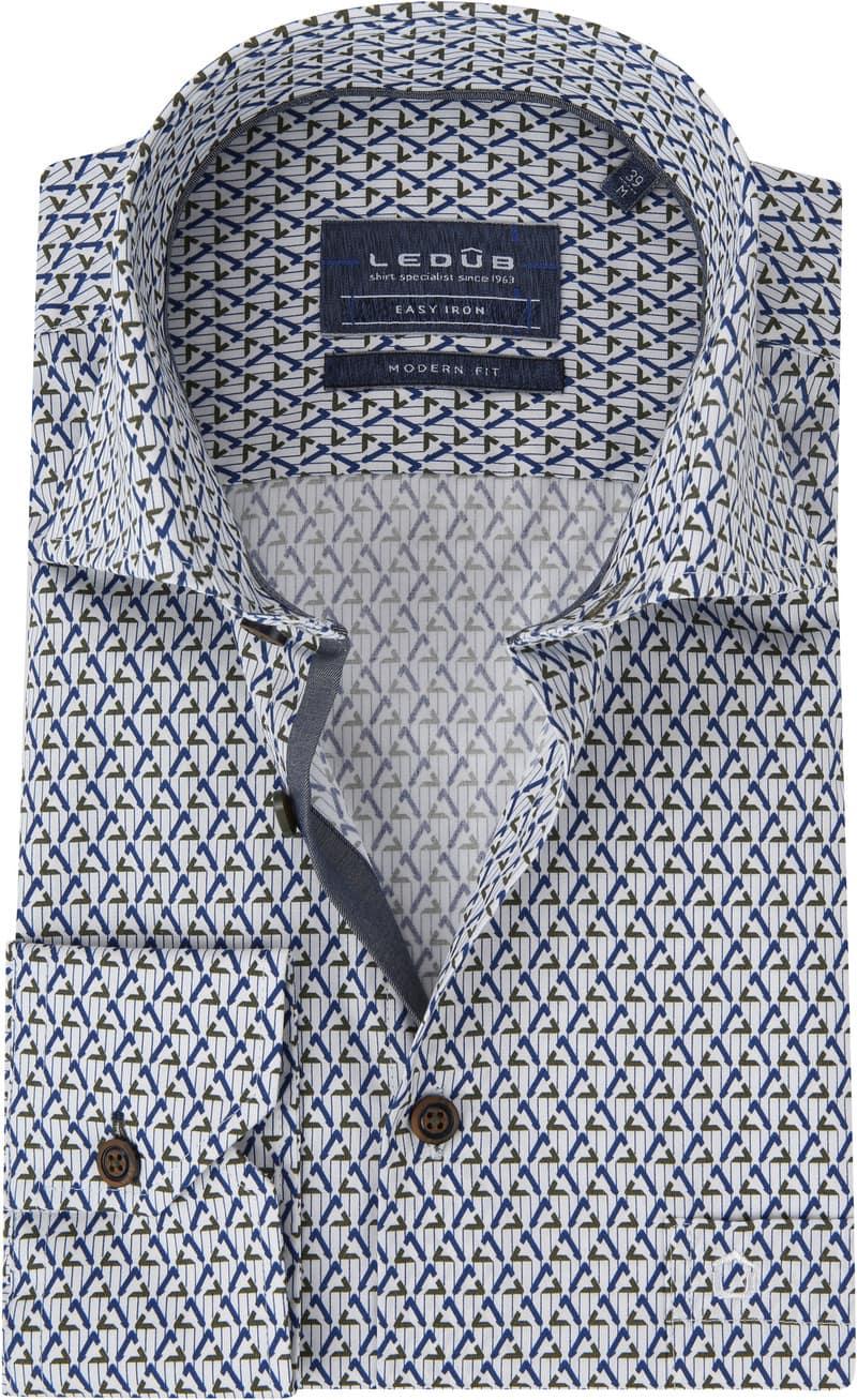Ledub Overhemd MF Dessin Army Blauw foto 0