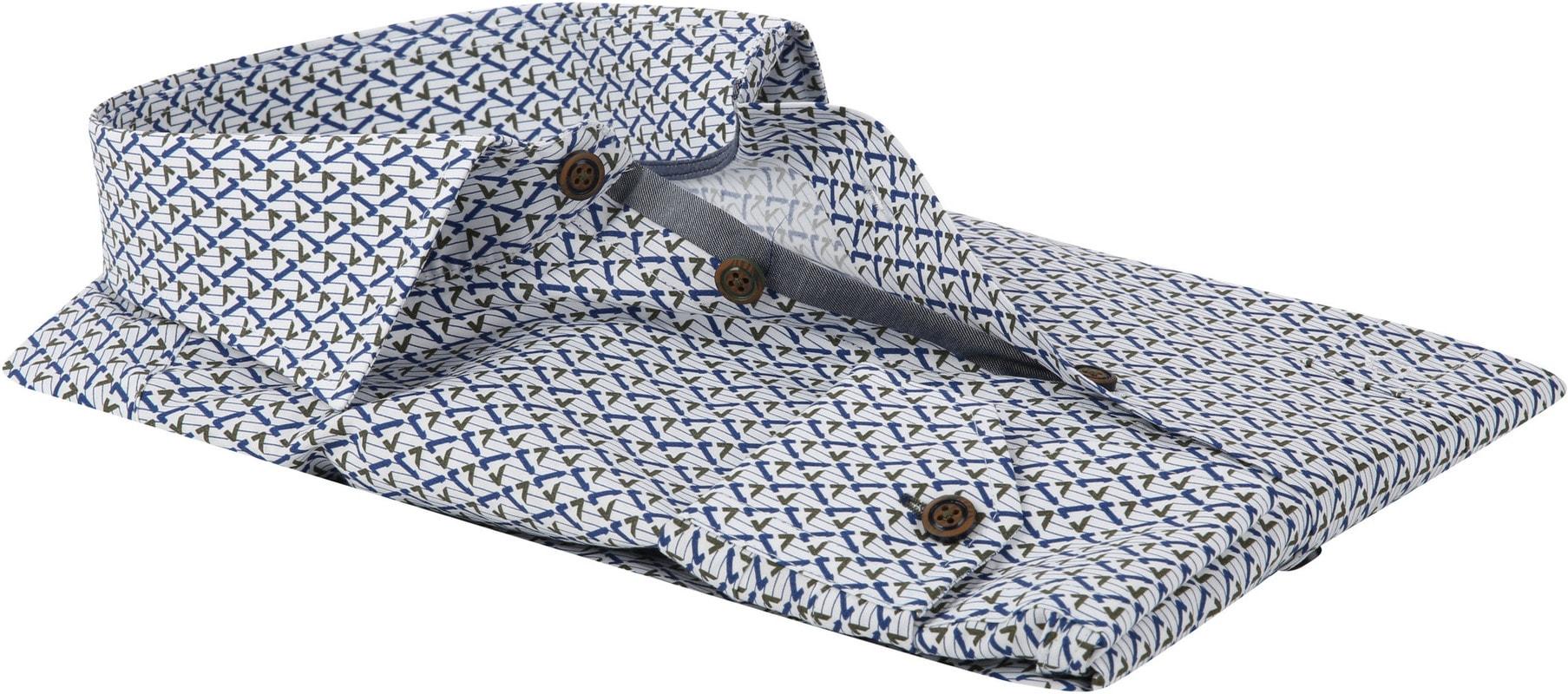 Ledub Overhemd MF Dessin Army Blauw foto 2