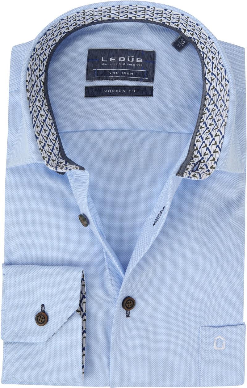 Ledub Overhemd MF Dessin Lichtblauw foto 0