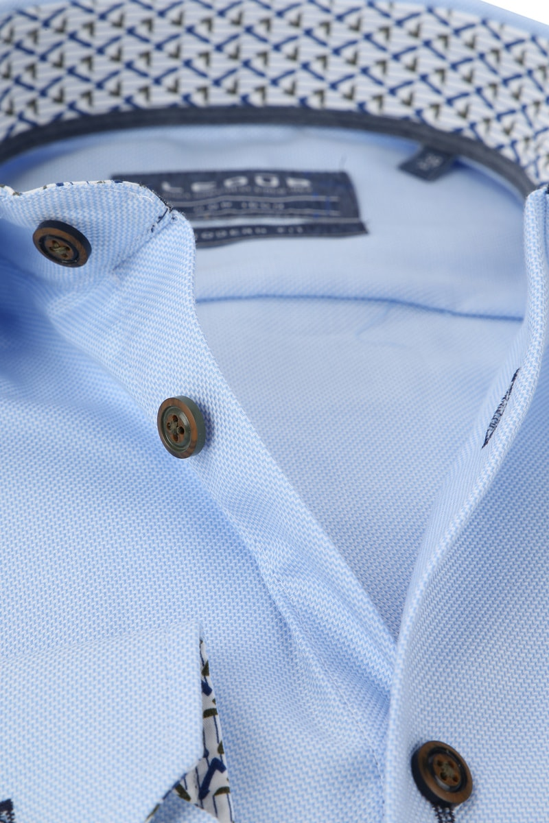 Ledub Overhemd MF Dessin Lichtblauw foto 1