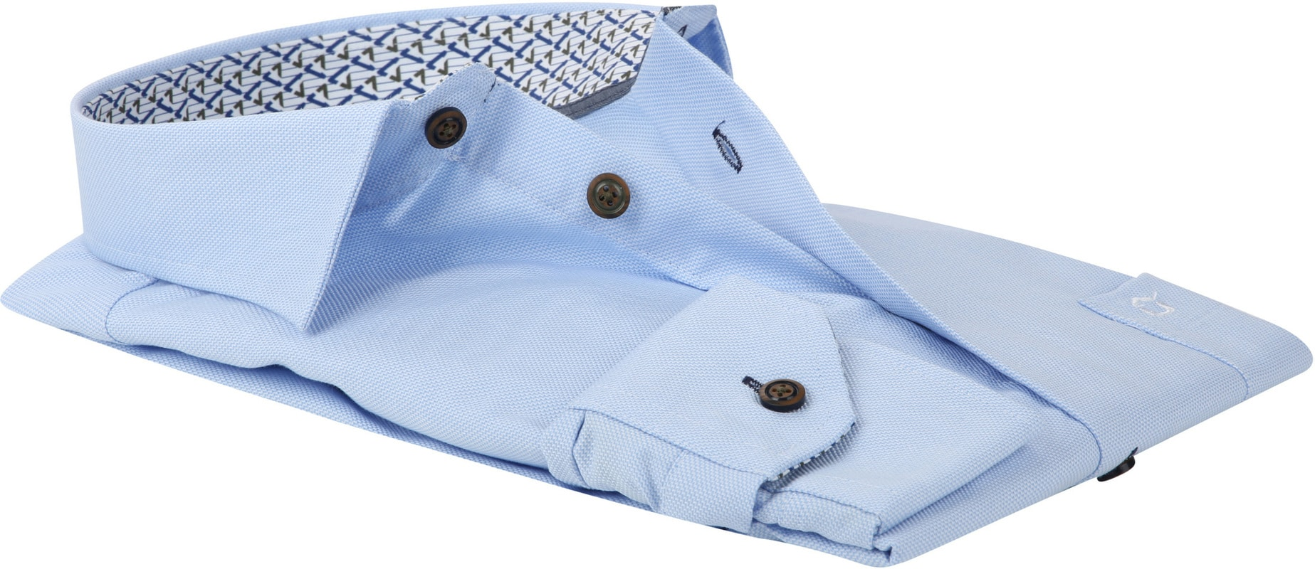 Ledub Overhemd MF Dessin Lichtblauw foto 2