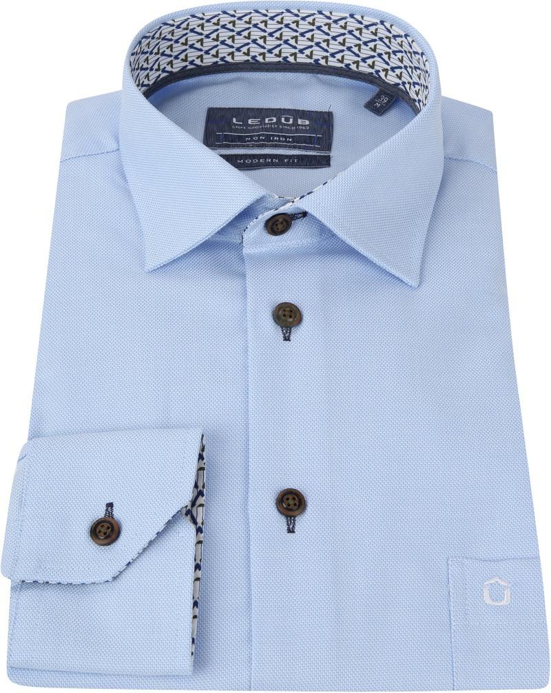 Ledub Overhemd MF Dessin Lichtblauw foto 3