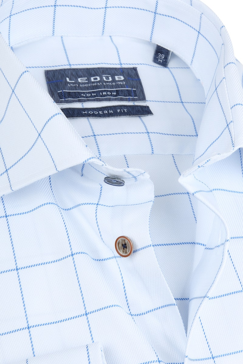 Ledub Overhemd MF Wit Ruiten foto 1