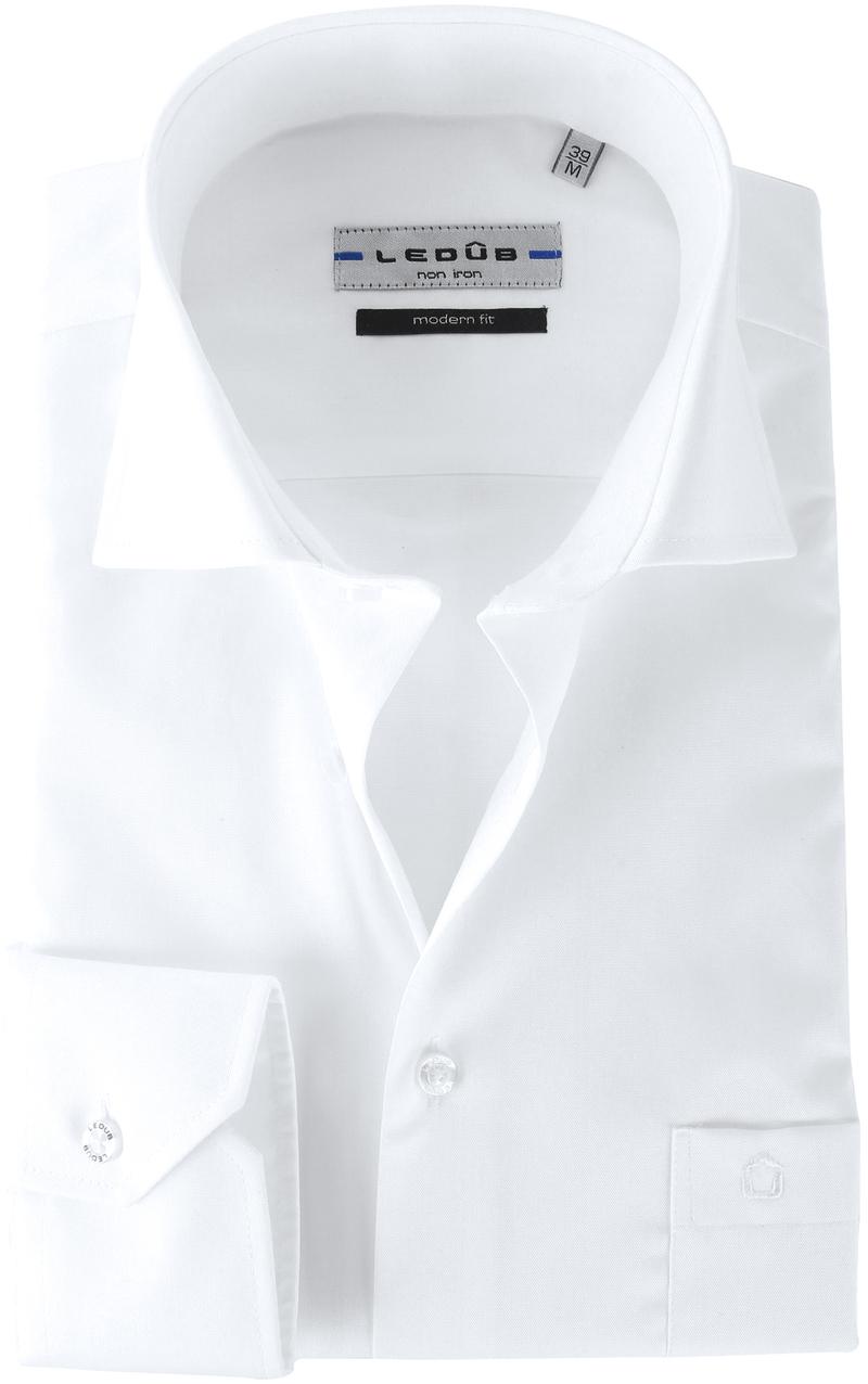 Ledub Overhemd Wit  Non Iron