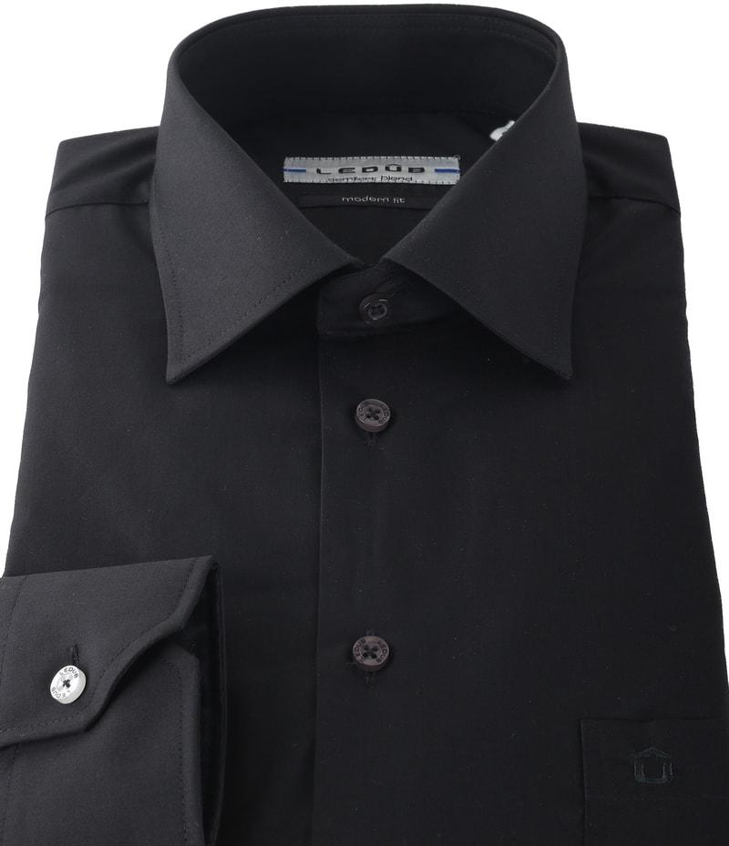 Ledub Shirt Black Modern Fit