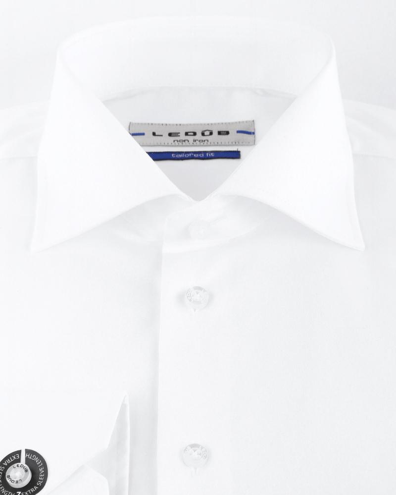 Ledub Strijkvrij SL7 Shirt Wit foto 2
