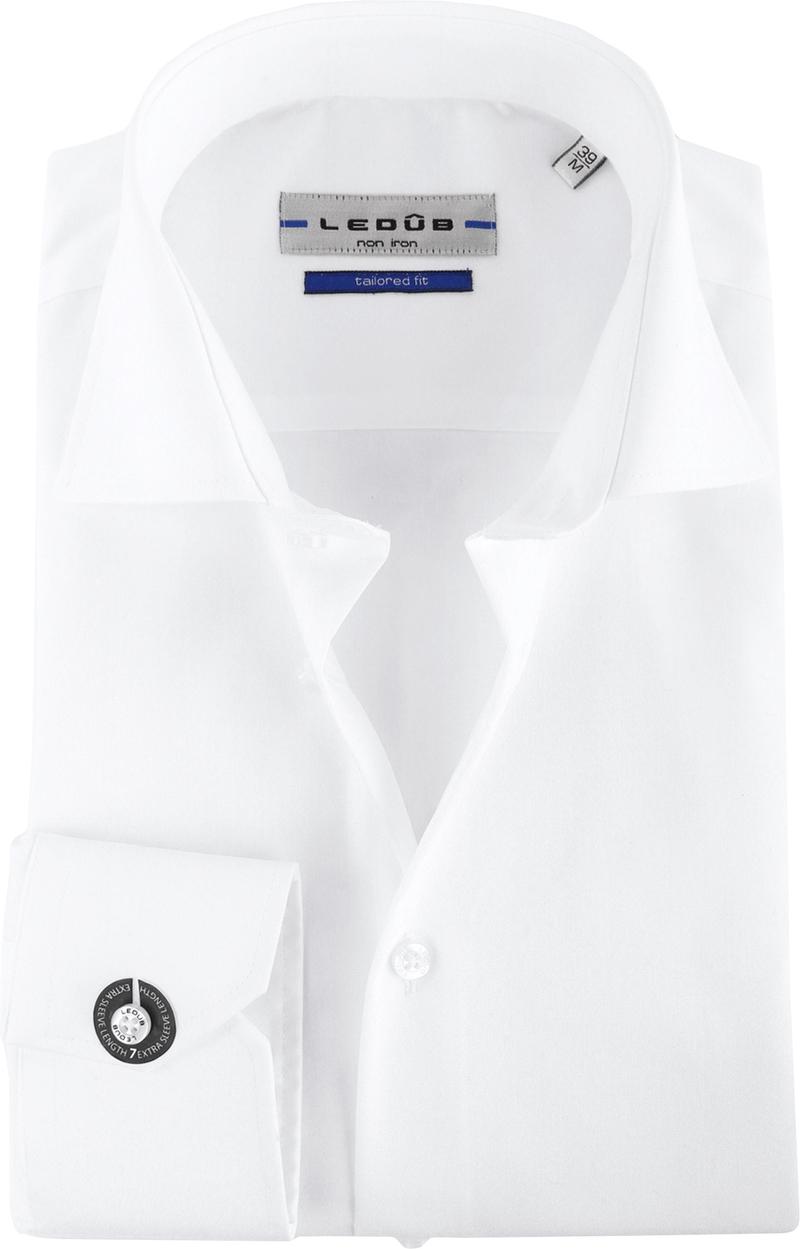 Ledub Strijkvrij SL7 Shirt Wit foto 0