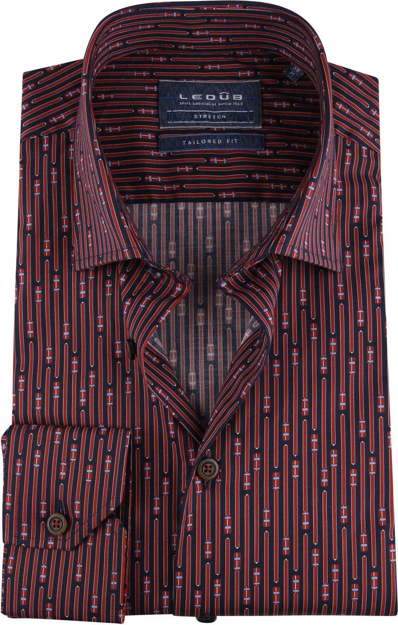 Ledub TF Overhemd Dessin Rood foto 0