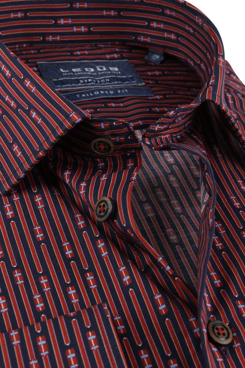 Ledub TF Overhemd Dessin Rood foto 1
