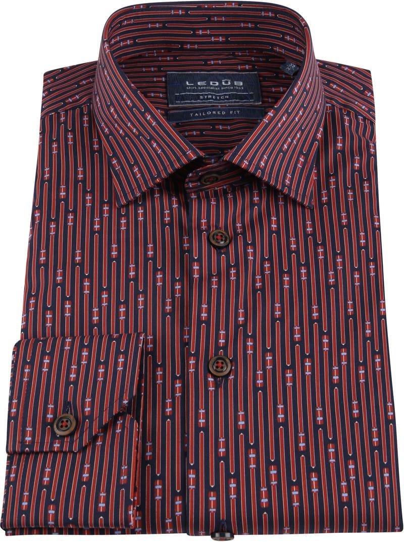 Ledub TF Overhemd Dessin Rood foto 2