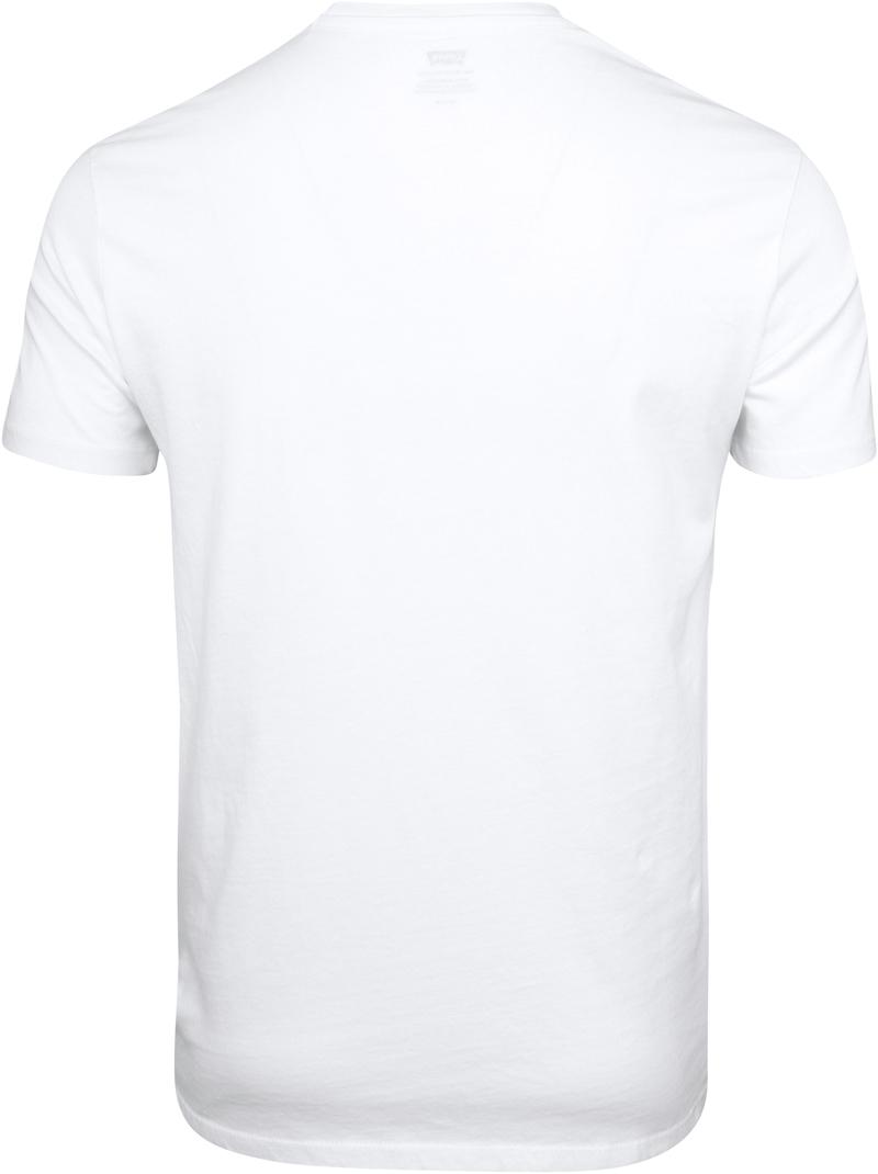 Levi-T-Shirt mit Logo Print Grafik-Weiß