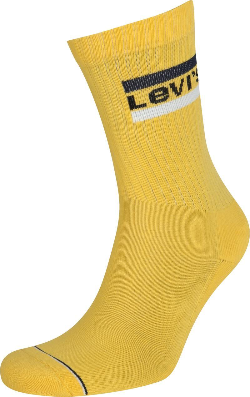 Levi's 2-Pack Sportswear Sokken Grijs Geel