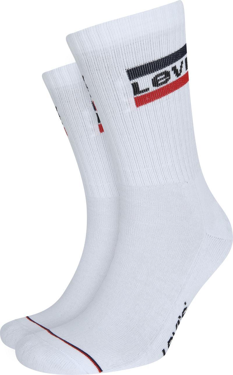 Levi's 2-Pack Sportswear Sokken Grijs Wit