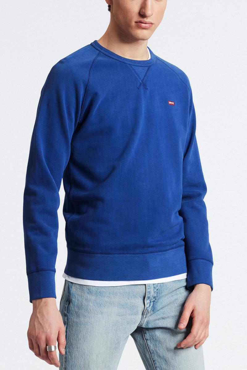 Levi's Original Sweater Indigo Blauw foto 4