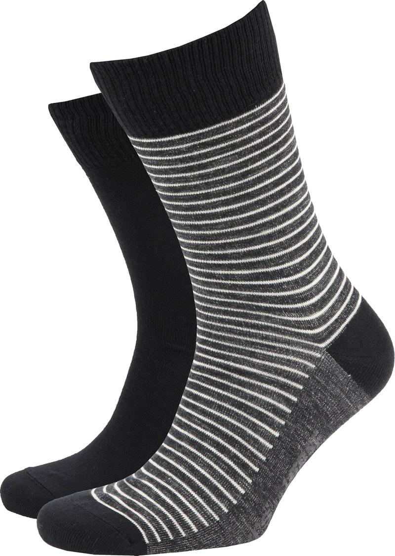 Levi's Socks 2-Pack Black and Dark Grey photo 0