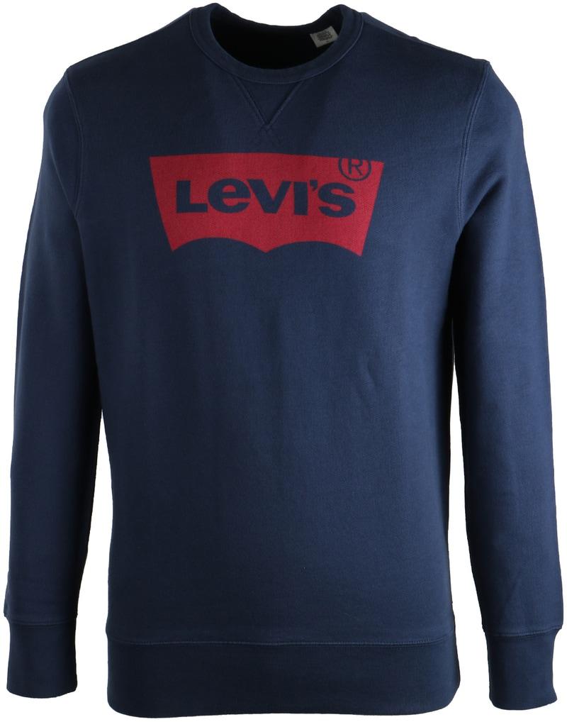 Levi's Sweater Donkerblauw Print  online bestellen | Suitable