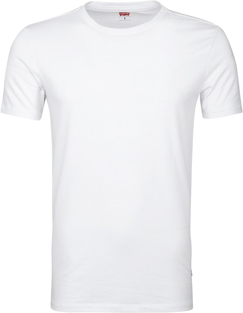 Levi's T-Shirt Rundhals Weiß 2-Pack