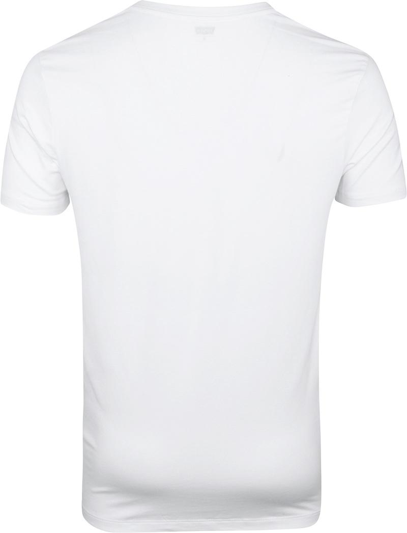 Levi's T-shirt V-Hals Wit 2Pack foto 3