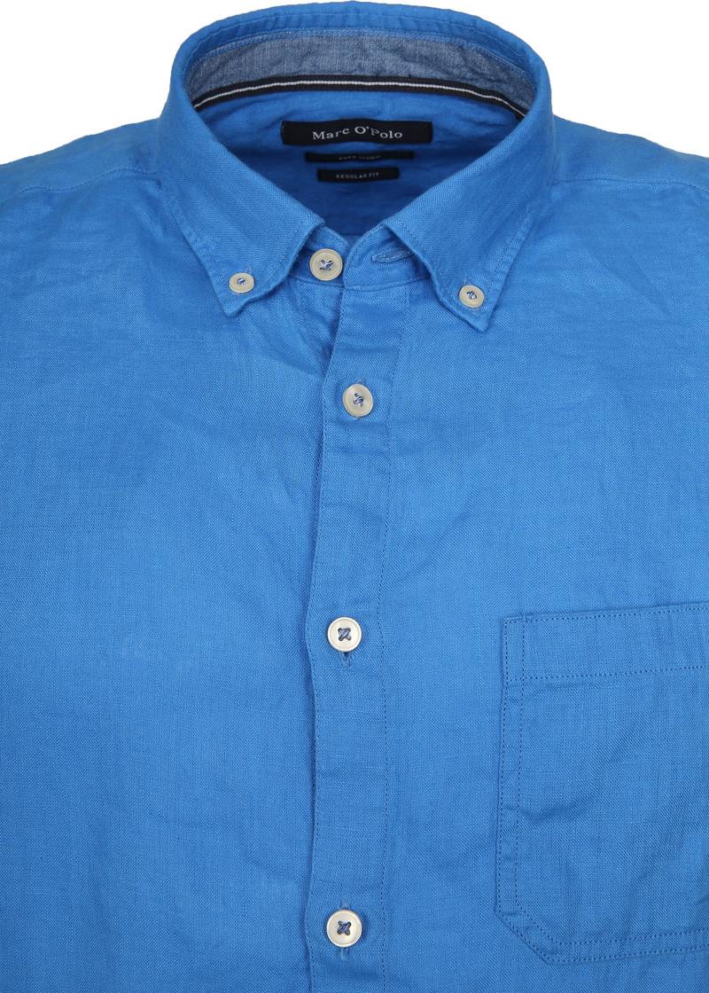 Marc O'Polo Casual Overhemd SS Victoria Blue foto 1