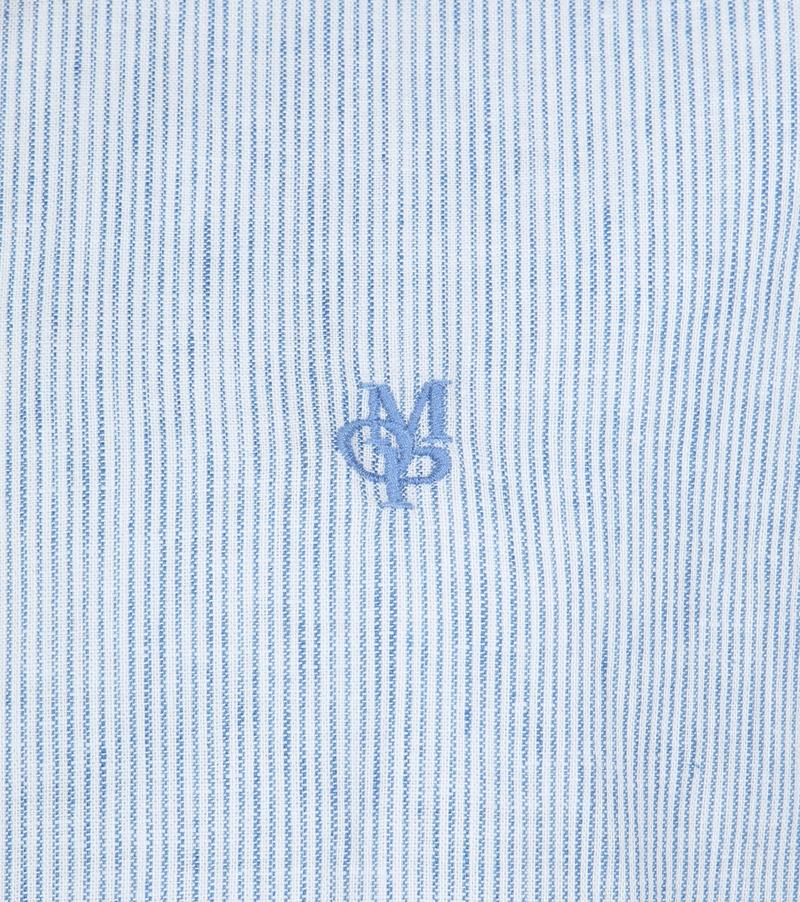 Marc O'Polo Casual Overhemd Strepen Blauw