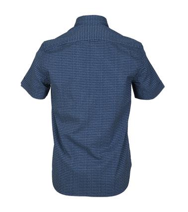 Detail Marc O\'Polo Korte Mouw Overhemd Navy
