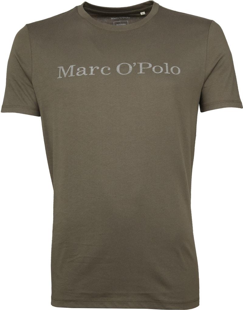 Marc O'Polo Logo T-shirt Groen foto 0