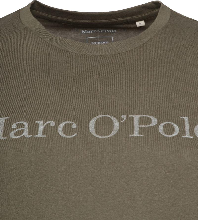 Marc O'Polo Logo T-shirt Groen foto 1