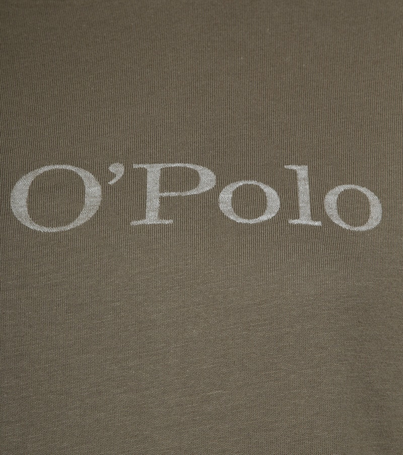 Marc O'Polo Logo T-shirt Groen foto 2