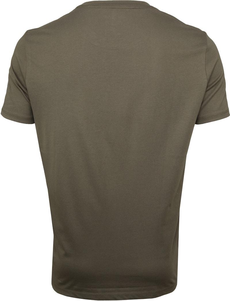 Marc O'Polo Logo T-shirt Groen foto 3