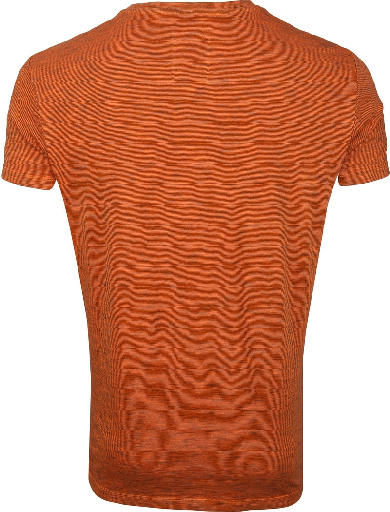 Marc O'Polo Logo T-shirt Stripe Orange photo 3