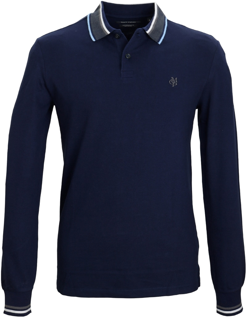 Marc O'Polo Longsleeve Polo Navy  online bestellen | Suitable