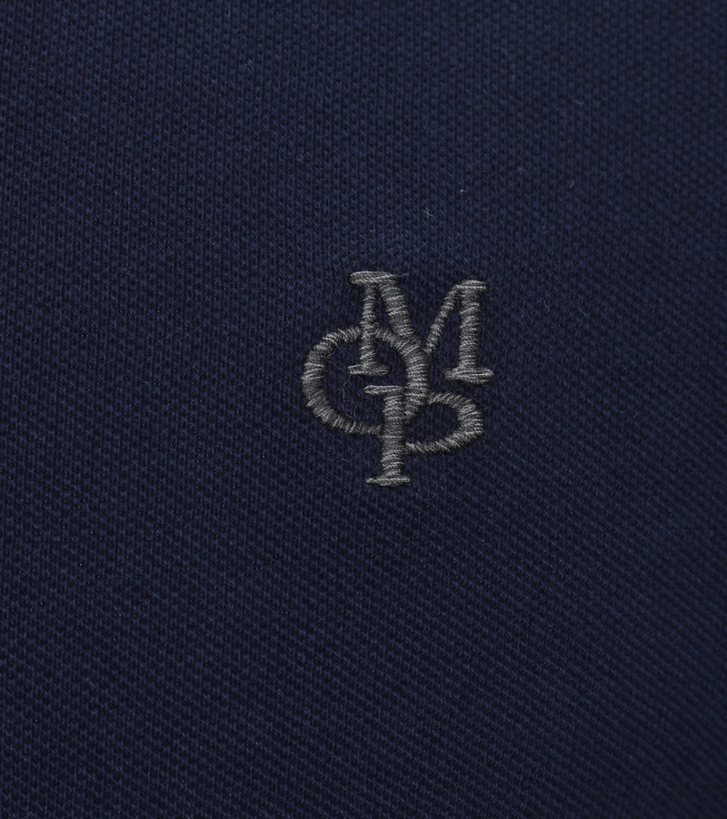 Detail Marc O\'Polo Longsleeve Polo Navy