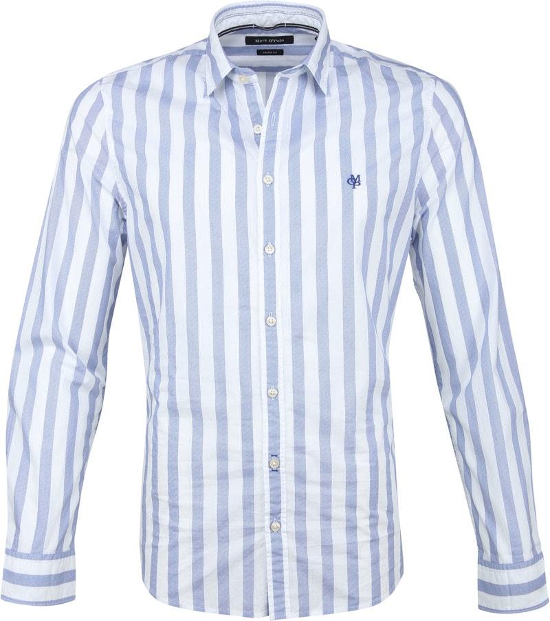 Marc O'Polo Overhemd Blauw Strepen foto 0