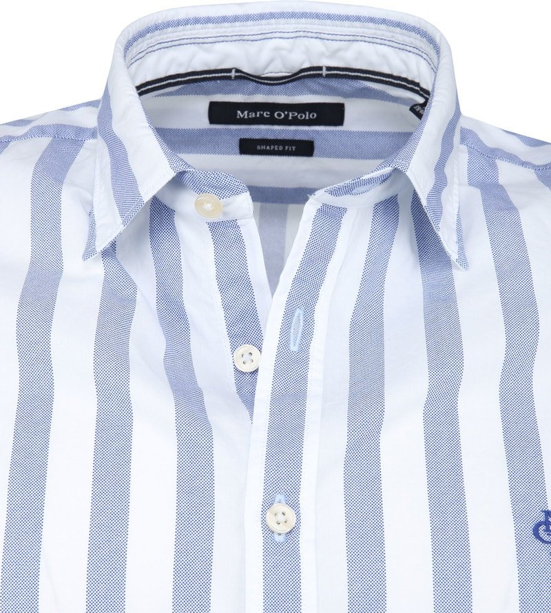 Marc O'Polo Overhemd Blauw Strepen foto 1