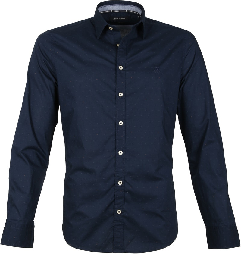 Marc O'Polo Overhemd Donkerblauw foto 0