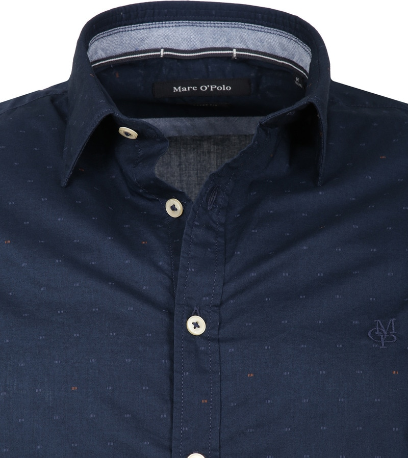 Marc O'Polo Overhemd Donkerblauw foto 1