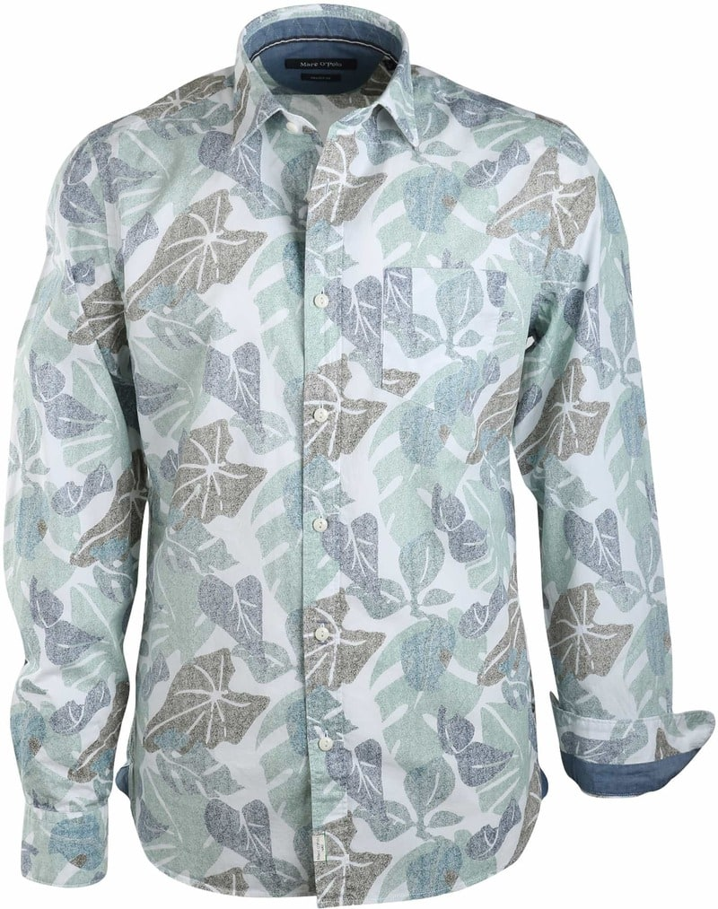Marc O'Polo Overhemd Groen Print  online bestellen | Suitable