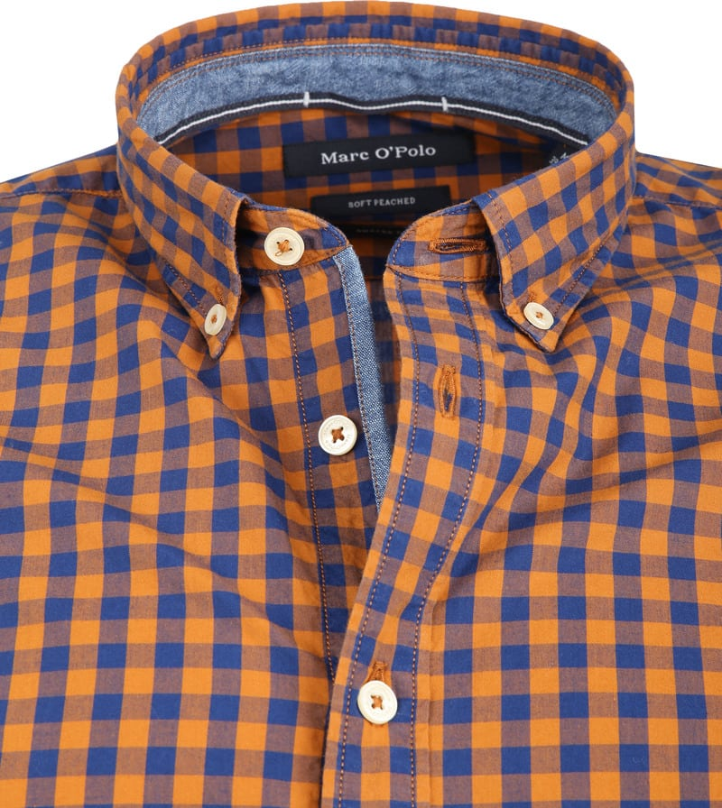 Marc O'Polo Overhemd Ruiten Oranje foto 1