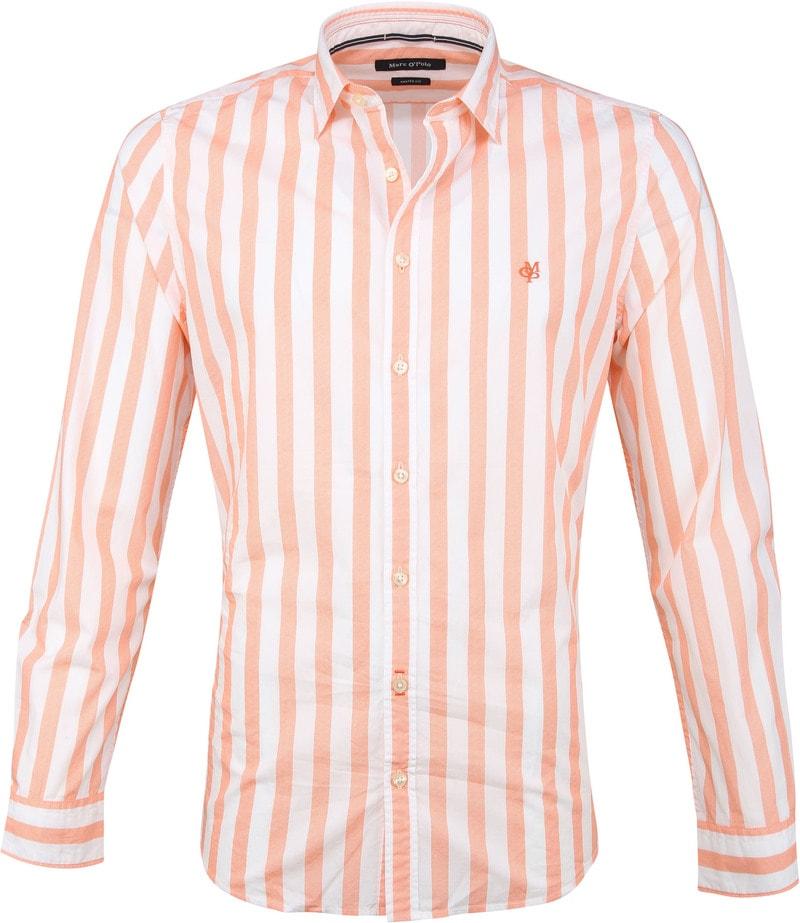 Marc O'Polo Overhemd Strepen Oranje foto 0